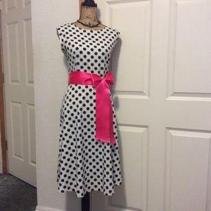 NEW.       Beautiful  polka dot dress